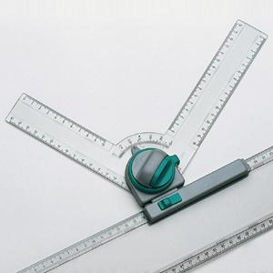 Рейсшина пластиковая металлический ролик 22 см